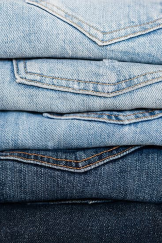single stack of Levi jeans